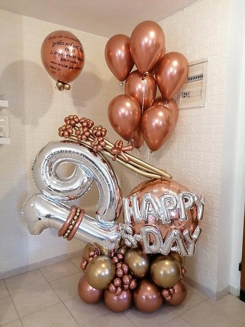 """19 מעמד בלונים """"ברונזה"""" ליום הולדת"""