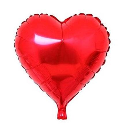 """בלון """"לב"""" בצבע-אדום"""