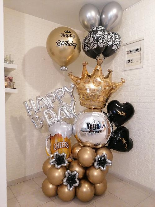 """מעמד בלונים """"בירה"""" ליום הולדת"""