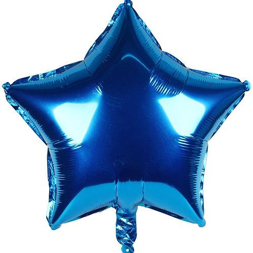 """בלון """"כוכב"""" בצבע-כחול"""