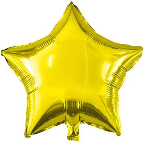 """בלון """"כוכב"""" בצבע-זהב"""