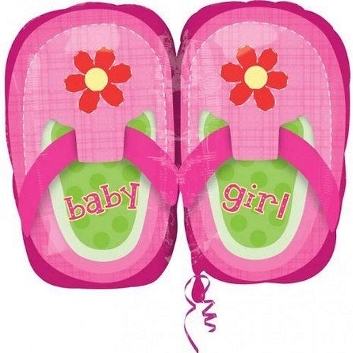 """בלון """"נעליים"""" לתינוקת"""