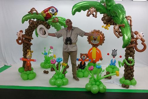 ג'ונגל מבלונים לסט צילומים