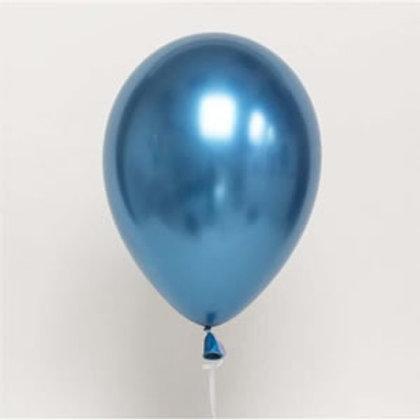 """בלון """"כרום"""" בצבע כחול"""