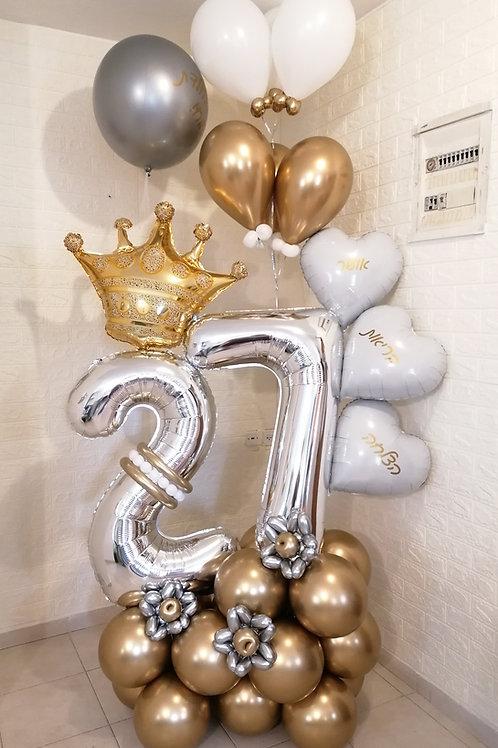 מעמד בלונים ליום הולדת 27