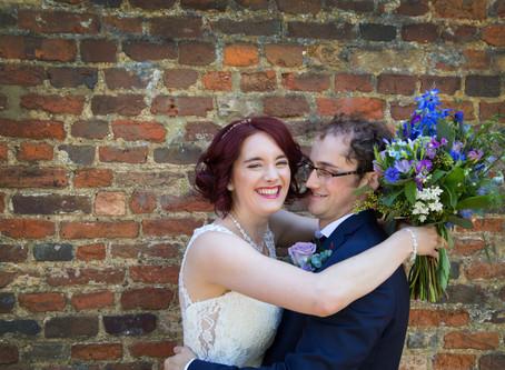 Juliet & Anthony's Priory Barn wedding...