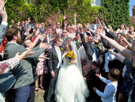 Georgia & Mark's very funny Letchworth Hall Hotel wedding...