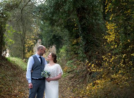 Laura & Dan's Autumn Tewin Bury Farm wedding...