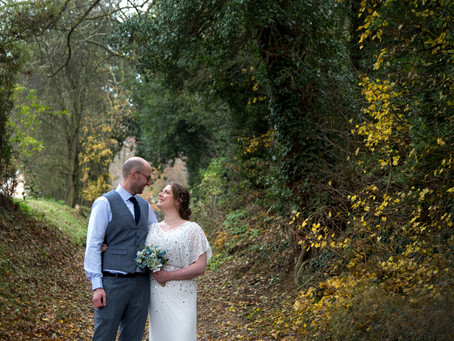 Laura & Dan's Autumn Tewin Bury Farm wedding...