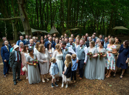 Maddy & Andy's woodland wedding.Lila's wood Tring.