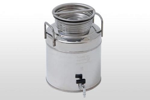 Fût inox 3 litres avec robinet