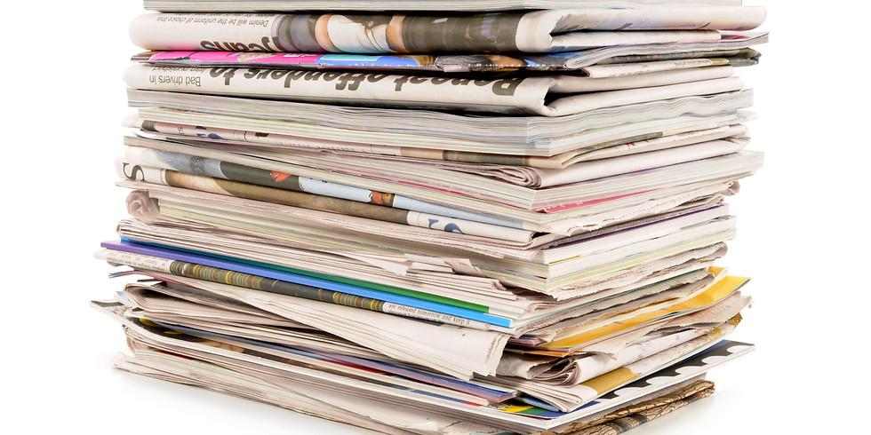 Collecte de papiers du 14 au 18 mai 2020