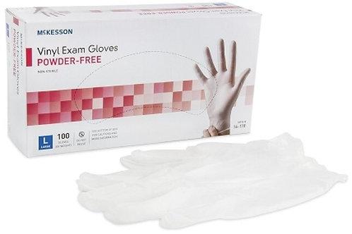 Vinyl Powder-Free Exam Gloves, 100/Box, LARGE