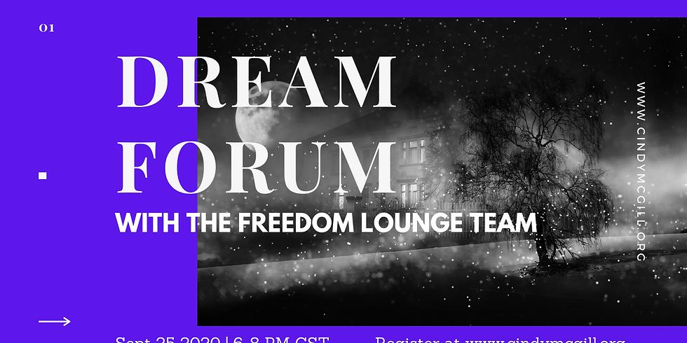Sept 25 Dream Forum