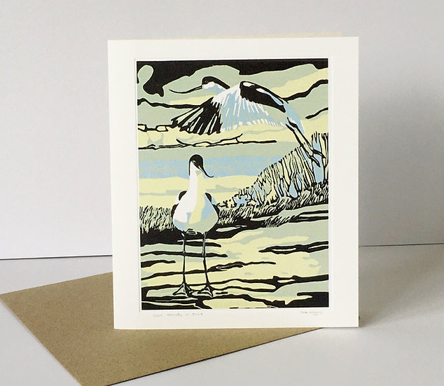 Two Avocets in June - Published by Art Angels