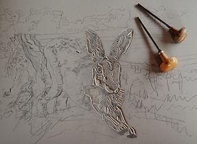 Harvest Hare creating master plate.jpg