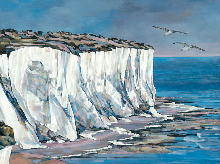'St Margaret's cliff' Grand Unframed Signed Limited Edition print