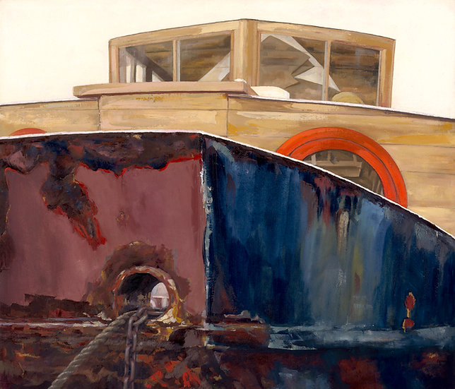 'Houseboat on the Saltmarsh' Grand Unframed Signed Limited Edition prin