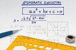 open workbook page with algebraic quadra