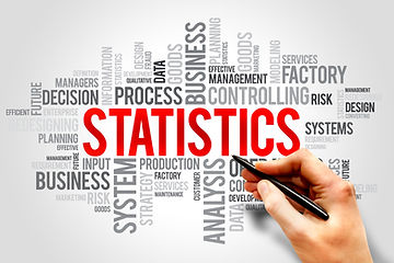 STATISTICS word cloud, business concept.