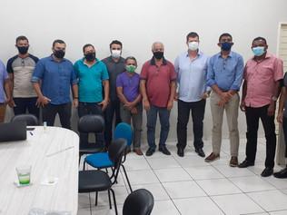 Reunião com prefeito e autoridades políticas de Ipixuna para reestruturação da saúde do município