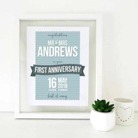 Anniversary print