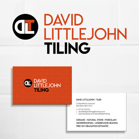 David Littlejohn Tiling, logo and business cards