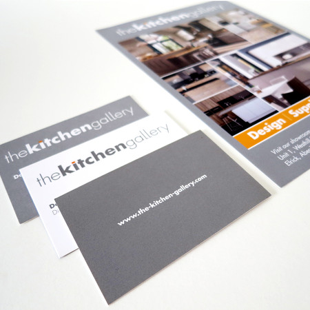 The Kitchen Gallery logo, stationery, advertising and livery.