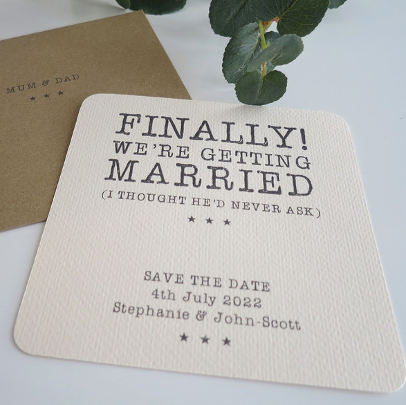 Finally! Save the dates