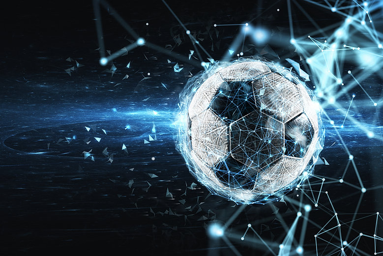 Soccer ball with internet network effect