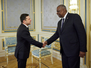 Володимир Зеленський зустрівся з міністром оборони США