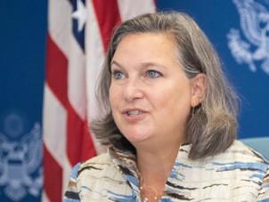 Нуланд говорила в Росії про повне виконання мінських угод, - посольство США