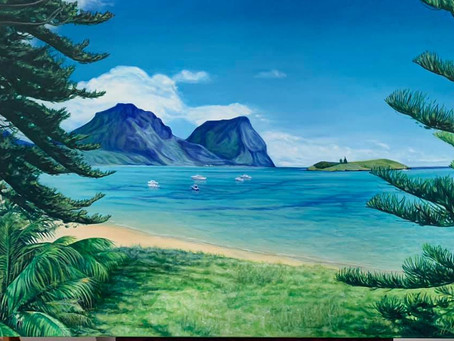 Finished Commission of Lord Howe Island for 70th Birthday gift.