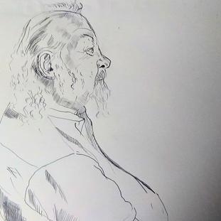 Man (artist) at Prize Giving at New Hamp
