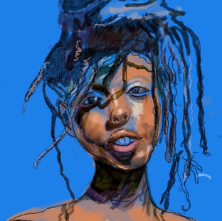black girl with dreads