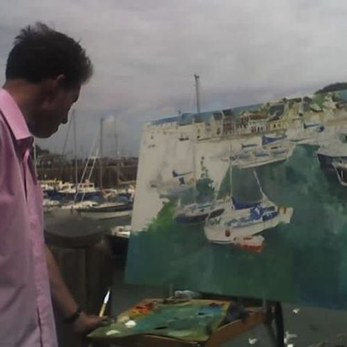 painting at Ilfracombe harbour.jpg