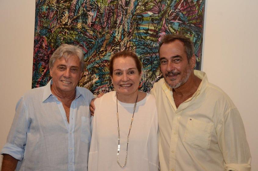 Celso e Angela Bravo e Jorge Barata