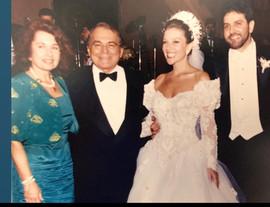 Marilu Pitanguy, Ivo Pitanguy,  Adriana e Enzo Rivera em seu casamento