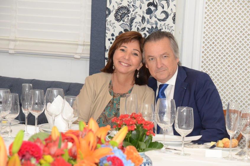 Marcia Ribeiro e Patrick Sabatier