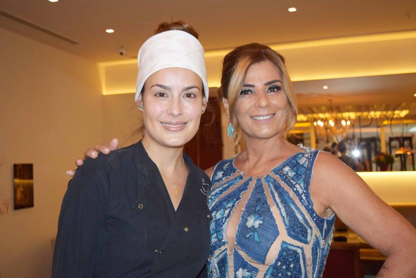 Claudia Bueri e Chef Heaven Delhaye