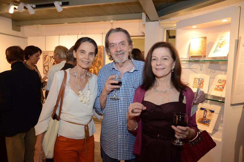 Betinha e Gilles Jacquard com Tessy Call