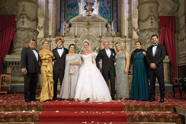 Renovação de votos, em 2019,  nos 25 anos do casamento de Enzo e Adriana de Rivera