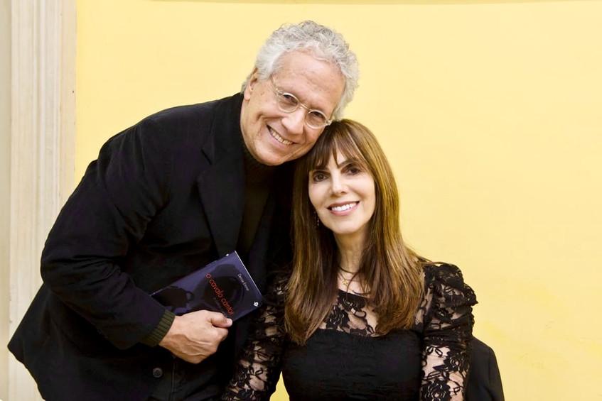 Emmer e o ator e escritor Sergio Fonta