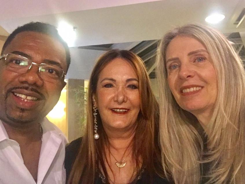 Elias, Cerise e Elaine Alvarenga