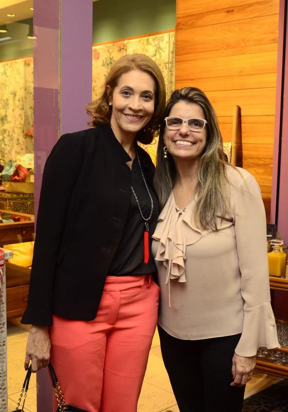 Odete Soares e Natasha Rangel