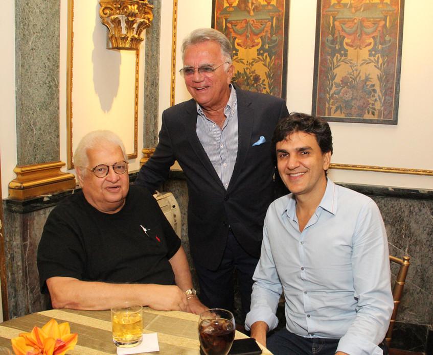 Carlos Serpa, Pedro Grossi e Gabriel Cha