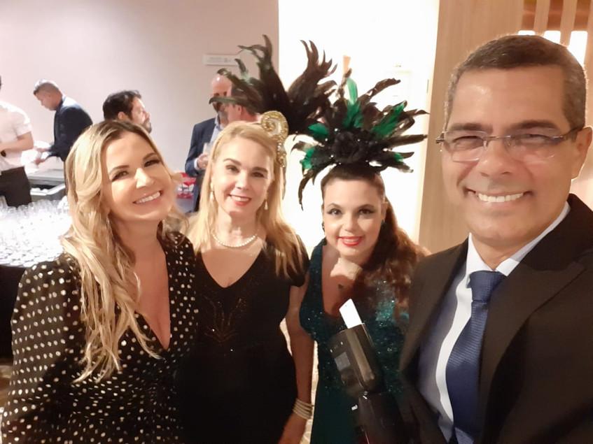 Vivi, Marisa, Dani e Márcio Rosa