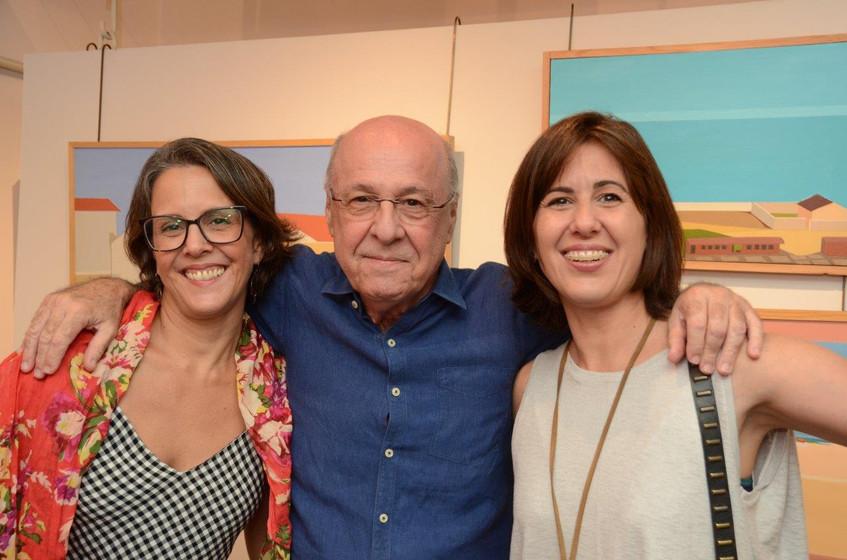 Laura, Evandro e Silvia Carneiro