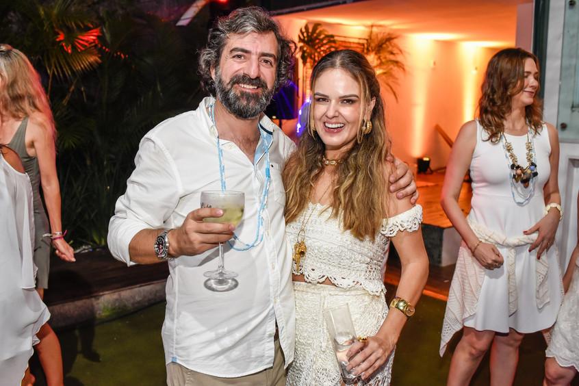 Manuel fernandes e Kika Cavalcanti