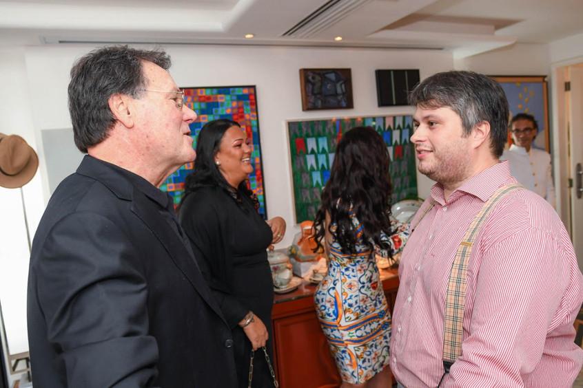 Claudio Castro com o arquiteto Márcio Ro